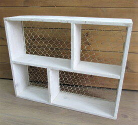 木製 ディスプレイボックス(posh40570)/シェルフ/棚/飾り棚/ポッシュリビング/POSH LIVING/カントリー雑貨/ギフト/プレゼント/ホワイトデー/母の日/父の日