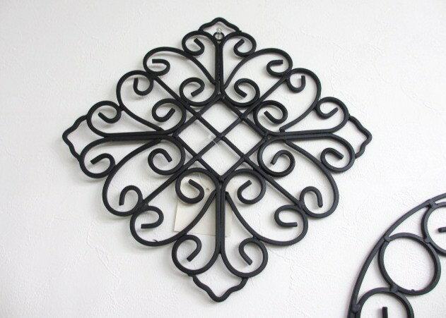アイアン製ウォールデコ・S ダイヤ 壁掛け飾りposh62406/カントリー雑貨 プロヴァンス風 ダイア