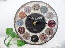 アンティーク風置時計オールドルックテーブルクロックOLD TOWNロゴカントリー雑貨