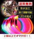 光る首輪!犬用!LED充電式!防水加工済!夜間や早朝の暗い散歩に!長さ調整可能!