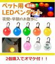 光る首輪 犬用 防水 ペンダント 電池式 LED ペット用 夜の犬の散歩や雨のお散歩を安全に 大型犬から小型犬もOK