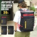 リュックサック 大容量 ボックス型 AVIREX アビレックス リュック 防水 BOX型 メンズ バックパック スクエア レディー…