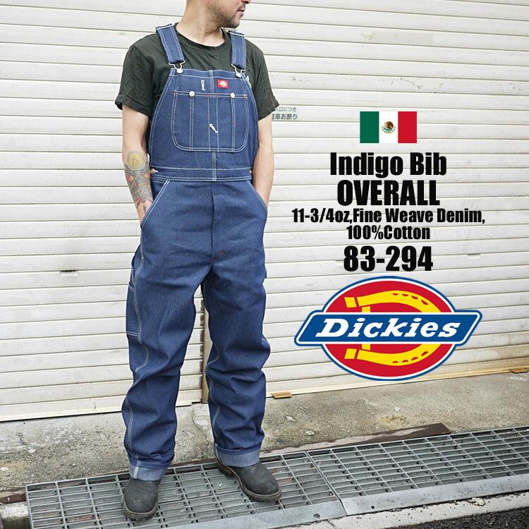 オーバーオール Dickies ディッキーズ 83-294 83294 INDIGO BLUE DENIM ワークショーツ インディゴ デニム メンズ レディース 大きい 大きいサイズ チノパンツ ディッキ族 つなぎ 作業着 おしゃれ ツアー フェス ディッキーズ 送料無料 バッグ