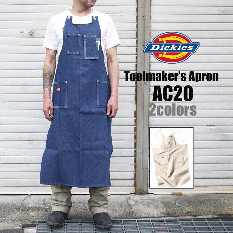 エプロン Dickies ディッキーズ レディース メンズ AC20 AC-20 ワーク 前掛け DIY 日曜大工 TOOL APRON デニム インディゴ ホワイト メンズ チノパンツ ディッキ族 つなぎ 作業着 おしゃれ キッチン 料理 ディッキーズ 鞄 メール便OK