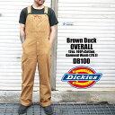 オーバーオール メンズ Dickies ディッキーズ DB100 DB-100 Brown Duck ブラウンダック ブラウン ダック ストライプ …