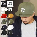 キャップ newera ニューエラ 9FIFTY NY ロゴ ビッグロゴ ニューヨークヤンキース 帽子 平ツバ メンズ レディース ロゴ…