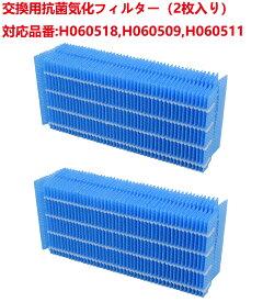 H060518 抗菌気化フィルター 交換用加湿フィルター 気化式加湿器 フィルター H060509 H060511 互換品(2枚入り)