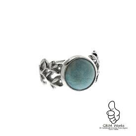 ラリマーのリング メンズ レディース 美しい海のような色のラリマーをシンプルなシルバーの指輪に ★サイズも豊富に揃っているのでプレゼントにも最適 ターコイズ よりも鮮やかなのが特徴 天然石