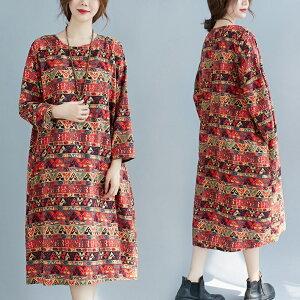 大きいサイズ 韓国 レディース ファッションワンピースLL〜4L(T)