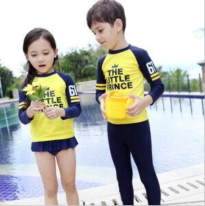 子供水着 キッズ 女の子 男の子 ビーチ 練習用 温泉 可愛い 2点セット スポーツウェア(T)