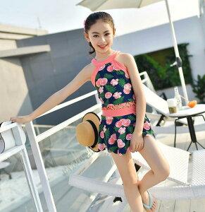子供水着 キッズ M2XL 2色 女の子 ビーチ 練習用 温泉 可愛い ワンピース(T)