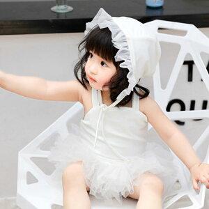 ガールズ 女の子 水着 赤ちゃん 子供服 ワンピース 帽子付き 韓国子供服 キッズ 可愛い(T)