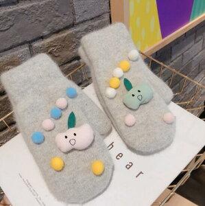 手袋 ミトン リンゴ 果物 暖か かわいい 学生 韓国ファッション デザイン (T)