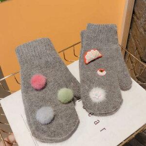 手袋 ミトン ポンポン 果物 かわいい 学生 カラフル 暖か (T)