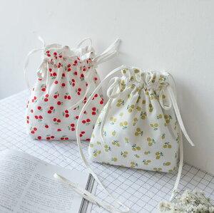 ショルダーバッグ 果物 桜桃 可愛い シンプル 帆布 ファッション (T)