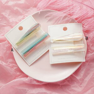ヘアアクセサリー ヘアピン 韓国ファッション かわいい 半透明 セット レディースファッション (T)