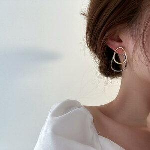 アクセサリー ピアス 金属 多層 韓国ファッション シンプル レディースファッション (T)