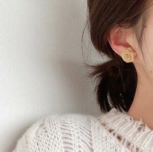 アクセサリー ピアス バラ rose 金属 フランス風 シンプル レディースファッション (T)