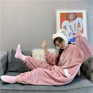 ルームウェア かわいい ナイトガウン 用 コーラルフリース パジャマ もこもこ 防寒 ゆったり 暖かい(T)