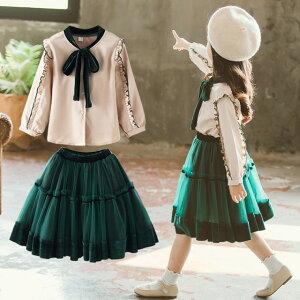 スーツ 女の子 子供スーツ 2点セット 卒服 ォーマル ジャケット スカート ブラウス 入学式 入園式(T)