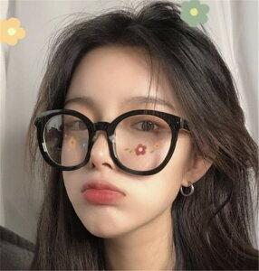 韓国ファッション メガネ 度なし メガネフレーム 可愛い系 カジュアル エレガント(T)