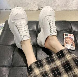 大人のキレイを求めて 韓国ファッション マフィン スリッパ ピュアカラー キャンバス ヤングスタイル(T)