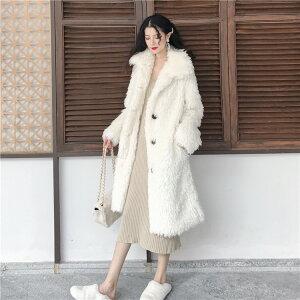 上品映え おしゃれ 羊のカールコート 女性 ファッション(T)