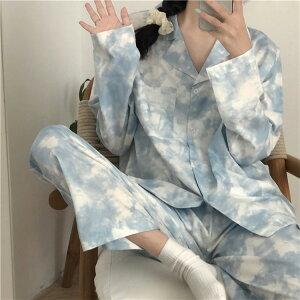 パジャマ セット 長袖 単体ボタン おしゃれ カジュアル ゆったり 快適(T)