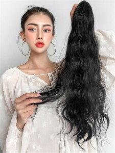 素敵なウィッグ ロングヘア ハイポニーテール カールヘア クランプ ナチュラル イミテーションヘア(T)