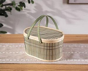 竹かご 携帯用 卵 果物 オリエンタル カニ 毛ガニ イチゴ ベイベリー ロクアット(T)