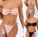 ブラジリアンビキニ ビキニ 水着 ハイレグ エロい エロいビキニ エロい水着 黒 パイソン柄 ピンク 無地 紐 サイドストリング レディース セクシー ブラジリアンカット ショーツ 可愛い かわいい bikini 上下セット 女性用水着 (T)