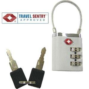 TSA twin lock ツインロック 3桁 ワイヤーロック 鍵 TSAロック 南京錠 002237 6点迄メール便OK(je1a010)