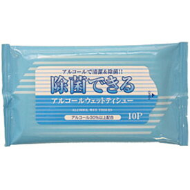 日本製 除菌 アルコール タイプ ウェットティッシュー ウェットティッシュ 携帯 用 ミニ サイズ 09374-00 手 指 お手拭き 10点迄メール便OK(je1a169)