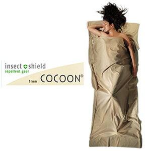 COCOON(コクーン) Insect shield ICT92 サファリトラベルシーツ コットン サンド 収納ケース付 12550026(ei0a081)