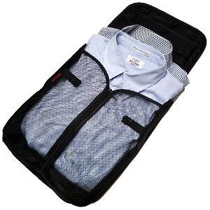 お着替えやす ワイシャツネクタイケース(Yシャツネクタイホルダー) 黒 1点迄メール便OK(go0a003)*ワイシャツケース ネクタイ用ケース ワイシャツ収納 ネクタイ収納 ガーメントケース ブラッ
