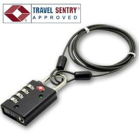 「tc2」旅人専科シリーズ TSAロック 4ダイヤル式ロック+1.2mワイヤー インジケーター付き MBZ-TI4/BK(mi1a259)