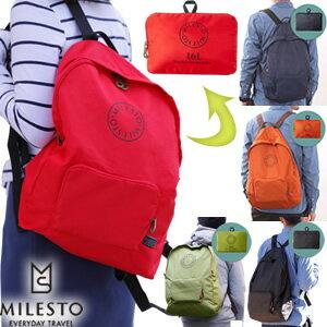 「cp」milesto(ミレスト)ポケッタブルバッグパック 16L MLS234 メール便OK(id0a105)