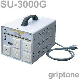 スワロー電機 5口ダウントランス SU-3000G 保証付 AC100・110・120・200・220・230・240V⇒降圧⇒100V(合計容量3000W) (og0a062)