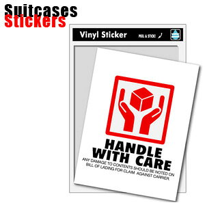 HANDLE WITH CARE ステッカー FRAGILE( フラジール )05 Suitcases Sticker( スーツケース ステッカー ) SK-062 100点迄メール便OK(ze0a015)