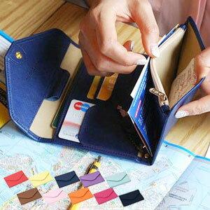 [送料299円〜]「tc3」GPTマルチパスポートケース レザー調 カード・小銭収納・ペンホルダー・キーフック付き アウトレット品 2点迄メール便OK(gu1a154)