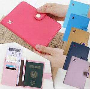 [送料299円〜]「tc6」手帳型GPTパスポートホルダー(飛行機マーク) レザー調 アウトレット 4点迄メール便OK(gu1a204)
