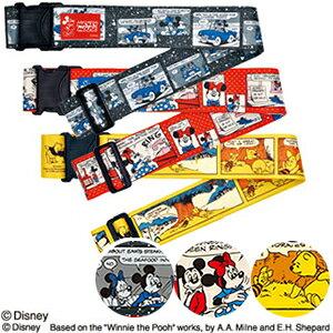 Disney ディズニー ワンタッチスーツケースベルト コミック柄 DTS-055 2点迄メール便OK(ko1a433)