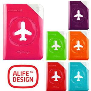 パスポートケース シールド パスポートカバー スキミング防止 対策 カラフル おしゃれ ALIFE アリフ ハッピーフライト sncf-122 4点迄メール便OK(su0a149)