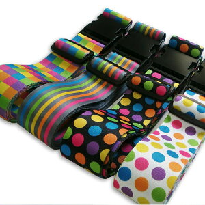 ワンタッチ式GPTスーツケースベルトアウトレット品おしゃれなチェック柄・水玉柄・ストライプ柄1点のみメール便OK(gu1a149)