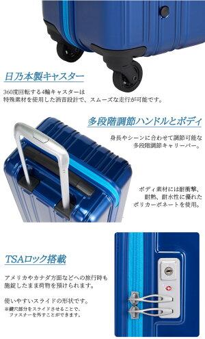 【旅行グッズ10点オマケ】SiiiN+Light(シーンプラスライト)超軽量キャリーケース54cmS19-C-3044輪スーツケースジッパー(su5a005)[C]【選べる旅行用品10点セットプレゼント】
