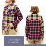 ネルシャツチェックシャツフランネルフラノカーディガンとしてもおすすめ!ふんわりネルシャツ♪クレイジーパッチワークチェックネルシャツレディースカジュアルトップスショート丈ブラウス腰巻き肩掛け抜け襟羽織物あす楽対応5573769
