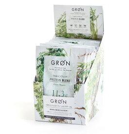 【送料無料】GRON グロン プロテインブレンド 12包 Box(グリーンモンスター) / 240g (20g x 12pcs)