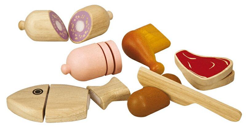 プラントイ 木のおもちゃ PLANTOYS ミートセット おままごとセット 肉魚 木製玩具 【あす楽対応】