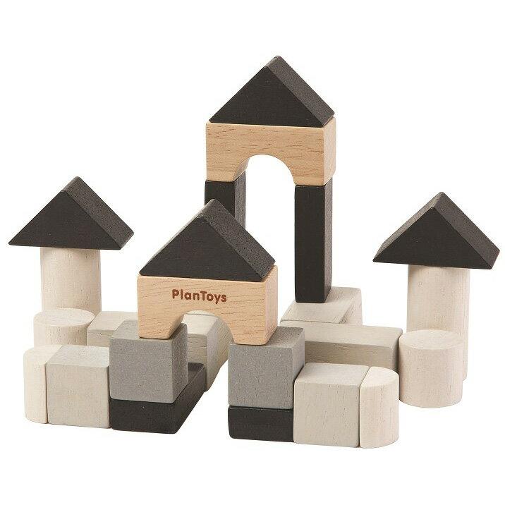 木のおもちゃ プラントイ PLANTOYS 組み立てあそび 積木 プランミニ 24個 知育玩具 指先運動