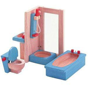 プラントイ 木のおもちゃ PLANTOYS ドールハウス カラーバスルーム おままごとに 木製玩具